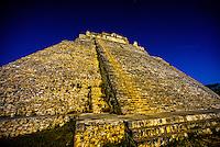 Pyramid of the Magician, Uxmal archeaological site, Yucatan Peninsula, Mexico