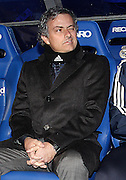Real Madrid's Jose Mourinho during spanish league match on January 23th, 2011.