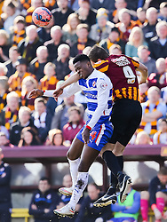 Reading's Nathaniel Chalobah challenged by Bradford City's James Hanson   - Photo mandatory by-line: Matt McNulty/JMP - Mobile: 07966 386802 - 07/03/2015 - SPORT - Football - Bradford - Valley Parade - Bradford City vReading - FA Cup - Quarter Final