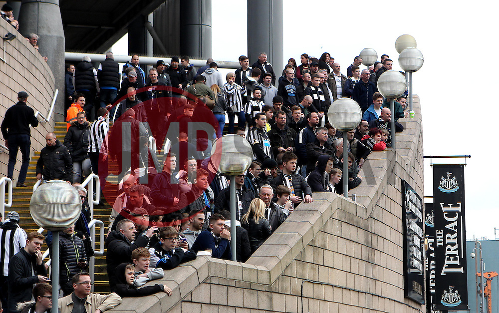 Newcastle United fans gather outside St James Park before the local derby against Sunderland - Mandatory byline: Robbie Stephenson/JMP - 20/03/2016 - FOOTBALL - ST James Park - Newcastle, England - Newcastle United v Sunderland - Barclays Premier League