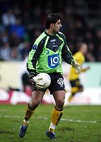 Fotball, 21. april 2002. Tippeligaen, Sogndal v  Start. Fosshaugane. Dime jankulovski, Start.