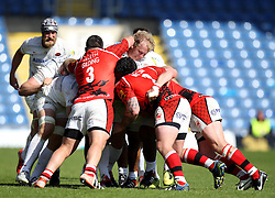 The Saracens and London Welsh packs maul - Photo mandatory by-line: Robbie Stephenson/JMP - Mobile: 07966 386802 - 16/05/2015 - SPORT - Rugby - Oxford - Kassam Stadium - London Welsh v Saracens - Aviva Premiership