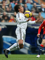 Real Madrid's Gabrieol Heinze during La Liga match.January 18 2009.