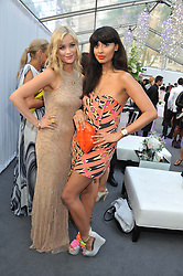 Left to right, LAURA WHITMORE and JAMEELA JAMIL at the Glamour Women of the Year Awards 2012 in association with Pandora held in Berkeley Square Gardens, London W1 on 29th May 2012.
