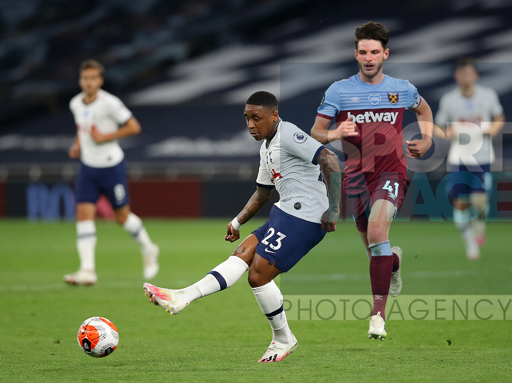 Tottenham's Steven Bergwijn during the Premier League match at the Tottenham Hotspur Stadium, London. Picture date: 23rd June 2020. Picture credit should read: David Klein/Sportimage