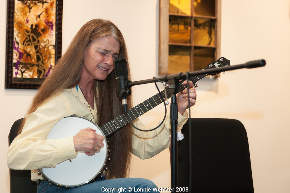 Sheila Adams at the Black Banjo Gathering in Boone NC on the Appalachian State University Campus