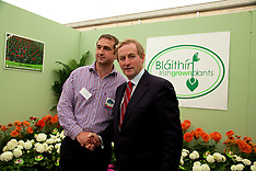 Taoiseach Enda Kenny Blaithin Irish Gown Plants at The National Ploughing Championships 2014.
