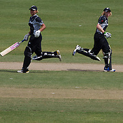 Suzie Bates and  Haidee Tiffen batting to a record partnership of 262 runs during the matSch between New Zealand and Pakistan in the Super 6 stage of the ICC Women's World Cup Cricket tournament at Drummoyne Oval, Sydney, Australia on March 19, 2009 New Zealand made 373 for 7. Photo Tim Clayton