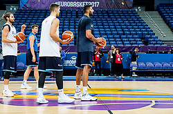 Ioannis Bourousis of Greece during training session of Greek National Basketball team at day 2 of the FIBA EuroBasket 2017 at Hartwall Arena in Helsinki, Finland on September 1, 2017. Photo by Vid Ponikvar / Sportida
