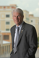A portrait of University of Central Florida President John Hitt at the alumni center in Orlando, Florida.  UCF is the largest university in the state of Florida.