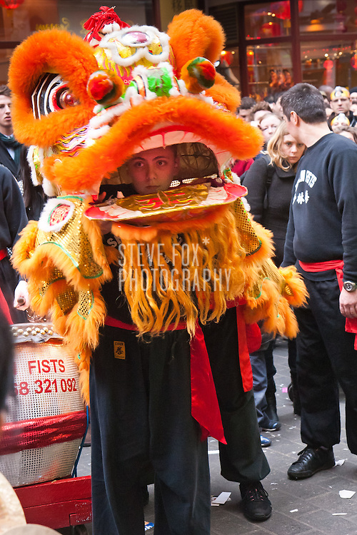 Lion Dance, Chinese New Year 2011, London, England