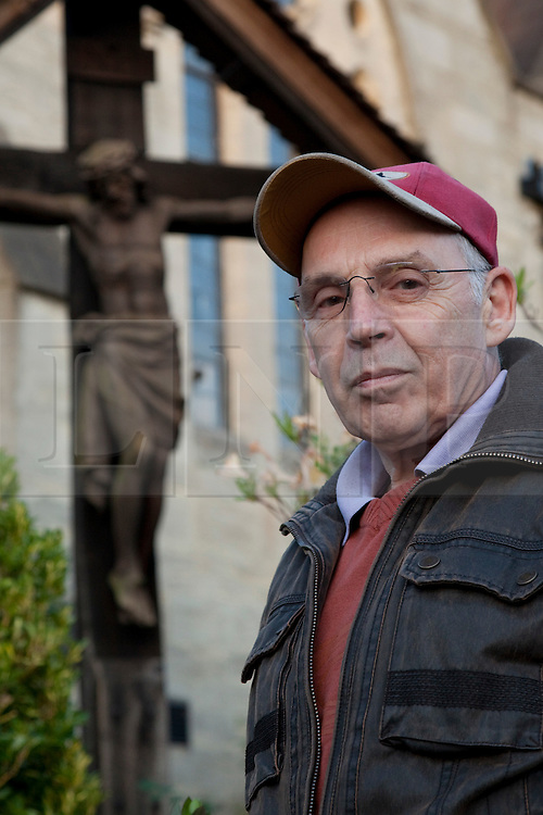 """© under licence to London News Pictures 10/05/11. Portrait of Julian Doyle, who edited the Monty Python film """"Life of Brian"""". Doyle has just released the book 'The Life of Brian/Jesus' which not only describes the film making and editing process but argues that Monty Python's film is the most accurate Biblical film ever made. 09/05/2011. Photo credit should read Bettina Strenske/LNP."""