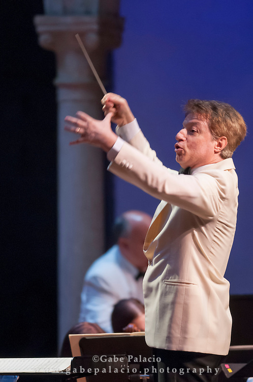 Roberto Abbado, conductor, and the Orchestra of St. Lukes perform at the Opening Night of the 2012 International Music Festival at Caramoor in Katonah New York on June 23, 2012..photo by Gabe Palacio