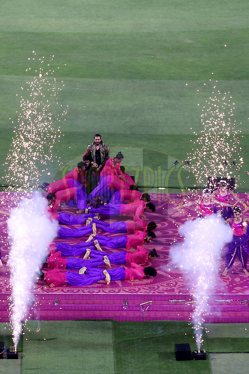 Bollywood actor Riteish Deshmukh performing at the opening ceremony during match 2 of the Vivo 2017 Indian Premier League between the Rising Pune Supergiants and the Mumbai Indians held at the MCA Pune International Cricket Stadium in Pune, India on the 6th April 2017<br /> <br /> Photo by Faheem Hussain - IPL - Sportzpics