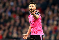 Robert Snodgrass of Scotland complains to the referee - Mandatory by-line: Robbie Stephenson/JMP - 11/11/2016 - FOOTBALL - Wembley Stadium - London, United Kingdom - England v Scotland - European World Cup Qualifiers
