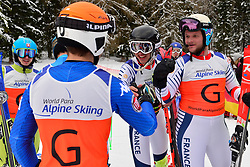 Super Combined and Super G, BERTAGNOLLI Giacomo Guide: CASAL Fabrizio, B3, ITA, CIVADE Thomas Guide: LARMET Kerwan, FRA at the WPAS_2019 Alpine Skiing World Championships, Kranjska Gora, Slovenia