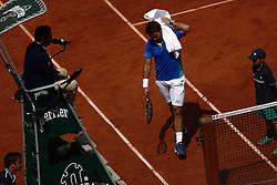 June 5, 2017 - Paris, France - Stan Wawrinka of Switzerland during the Roland Garros French Tennis Open 2017, on June 5, 2017, at the Roland Garros Stadium in Paris, France. (Credit Image: © Mehdi Taamallah/NurPhoto via ZUMA Press)