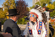 Arrival of Chief Bear, meeting of the two councils.