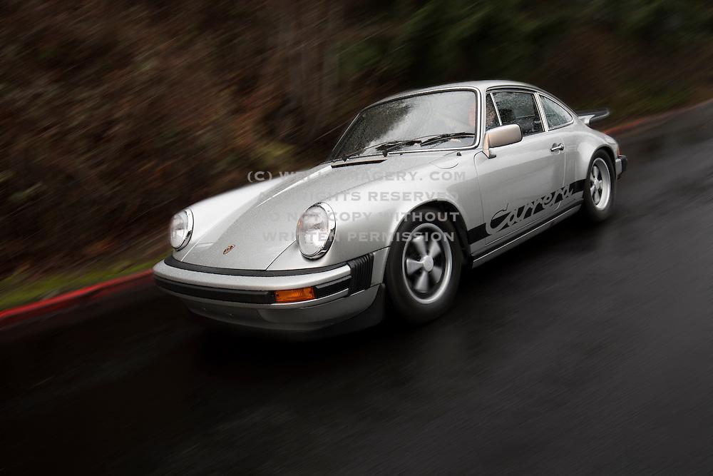 Image of a silver 1975 Porsche 911 Carrera 2.7 MFI in Seattle, Washington, Pacific Northwest