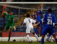 Photo: Daniel Hambury.<br />Crystal Palace v Preston North End. The FA Cup. 07/02/2006.<br />Palace's Darren Ward scores to make it 1-0.