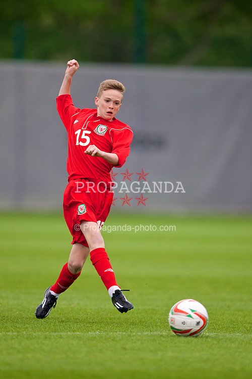 NEWPORT, WALES - Tuesday, May 27, 2014: Regional Boys' Cameron Berry during the Welsh Football Trust Cymru Cup 2014 at Dragon Park. (Pic by David Rawcliffe/Propaganda)