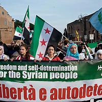 Manifestazione in solidarietà con il popolo siriano