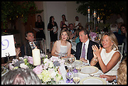 BRYAN FERRY; ROSAMUND PIKE; VISCOUNT LINLEY; Princess Chantal of Hanover , Cartier dinner in celebration of the Chelsea Flower Show. The Palm Court at the Hurlingham Club, London. 19 May 2014.