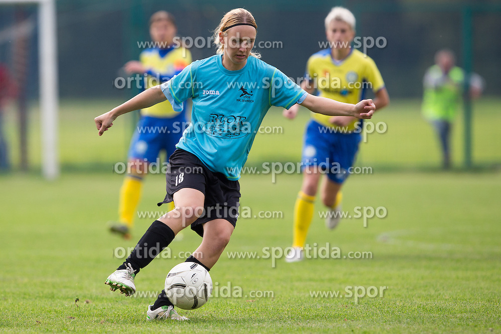 Kaja Jerina of ZNK Jevnica during football match between ZNK Jevnica and ZNK Teleing Pomurje in 3rd Round of Slovenian Women's Football League NZS 2012/13 on September 23, 2012 in Sport park Jevnica, Jevnica, Slovenia. (Photo By Matic Klansek Velej / Sportida)