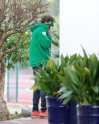 11.01.2014, Trainingsplatz, Jerez de la Frontera, ESP, 1. FBL, SV Werder Bremen, Trainingslager, im Bild Clemens Fritz (SV Werder Bremen #8) mit den Haenden vor dem Gesicht // Clemens Fritz (SV Werder Bremen #8) mit den Haenden vor dem Gesicht during Trainingsession of German Bundesliga Club SV Werder Bremen at Trainingsplatz in Jerez de la Frontera, Spain on 2014/01/11. EXPA Pictures © 2014, PhotoCredit: EXPA/ Andreas Gumz<br /> <br /> *****ATTENTION - OUT of GER*****