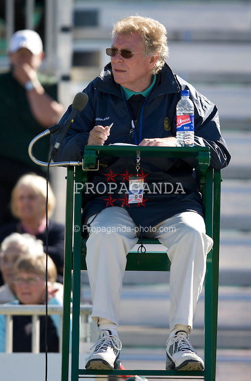 LIVERPOOL, ENGLAND - Thursday, June 12, 2008: Umpire Mike Jackson in action during the Legends' Doubles on Day Three of the Tradition-ICAP Liverpool International Tennis Tournament at Calderstones Park. (Photo by David Rawcliffe/Propaganda)