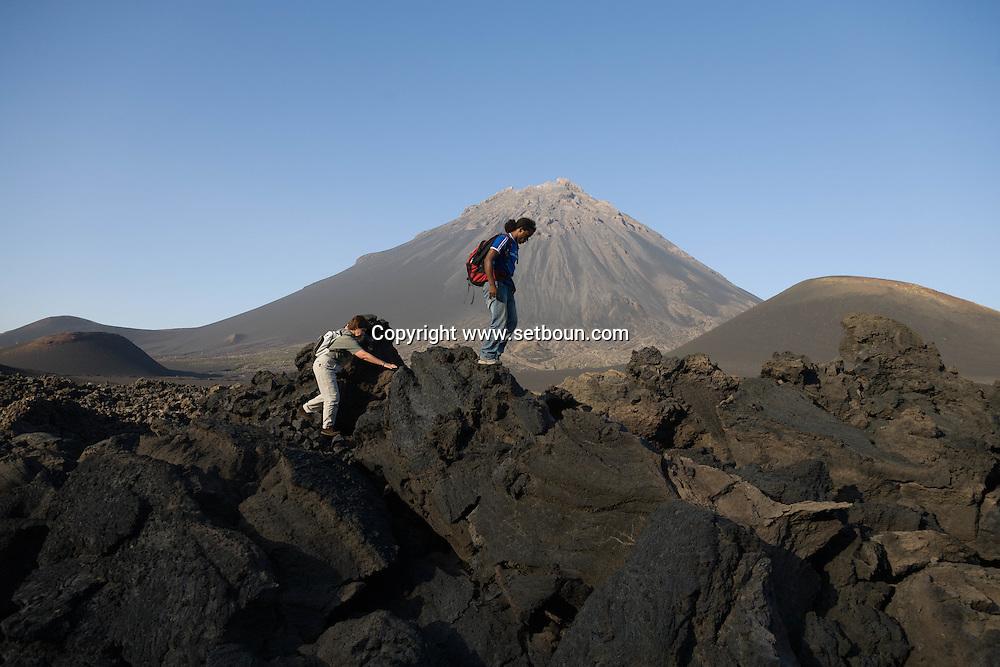 Cape Verde. landscape of the caldeira in Fogo volcano  Fogo island     / Cap-Vert:  paysage de la Caldeira,  le cratere au pied du volcan pic de Fogo  ile de Fogo    /12