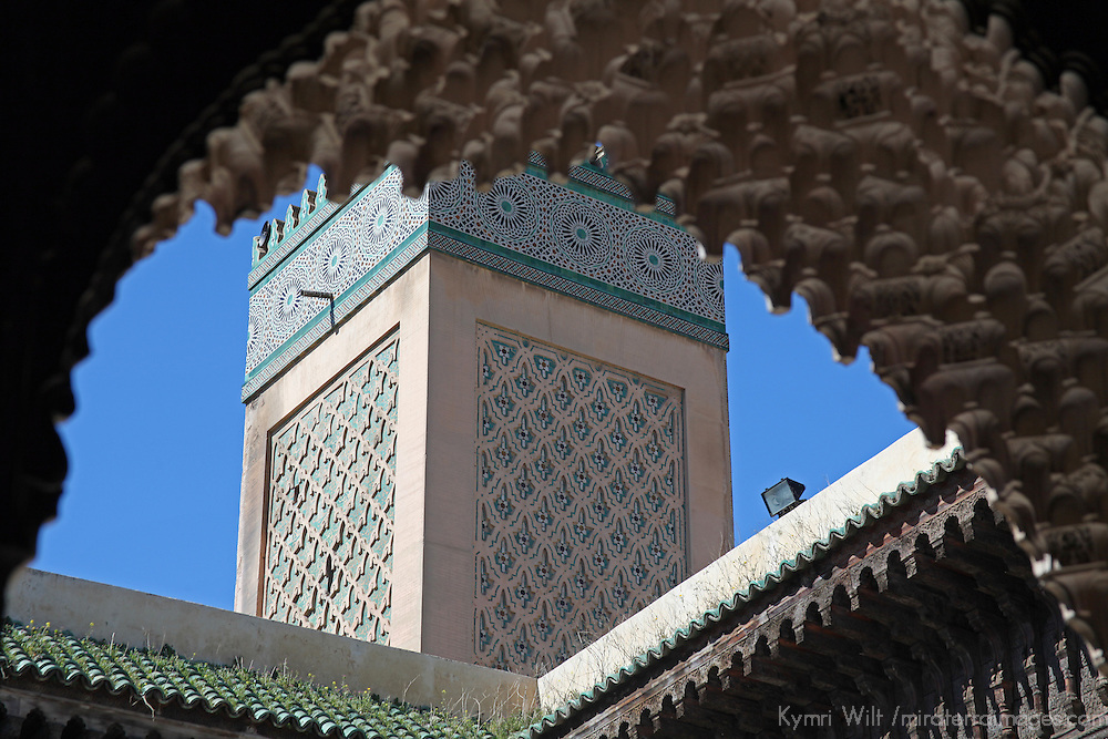 Africa, Morocco, Fes. Al-Attarine Madrasa, in the UNESCO World Heritage Site city of Fes.