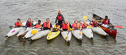 Adam Bates (Centre Kayak) Guinness Northern Counties Youth Coordinator, and Phil Roache (4th from left) Guinnesss Northern Counties Housing Officer with Kids from the Briary Close housing scheme in Wakefield Kayaking Pugneys Country Park on Thursday  26 August 2010 .Images © Paul David Drabble..