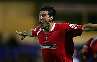 Photo: Paul Thomas.<br /> Chester City v Swindon Town. Coca Cola League 2. 01/09/2006.<br /> <br /> Lee Peacock celebrates his goal for Swindon.