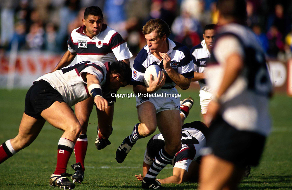 John Kirwan in action during the rugby union NPC match between Auckland and North Harbour, 1993. Photo: PHOTOSPORT