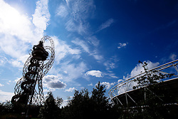 The Arcelor Mittal Orbit as seen from the Stadium - Mandatory byline: Rogan Thomson/JMP - 07966 386802 - 29/08/2015 - RUGBY UNION - The Stadium at Queen Elizabeth Olympic Park - London, England - Barbarians v Samoa - International Friendly.