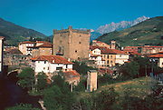 SPAIN, NORTH, CANTABRIA town of Potes in 'Picos de Europa'