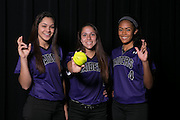 Cedar Ridge softball players:  Breanna Hernandez, Christiana McDowell and Heaven Burton.  (LOURDES M SHOAF for Round Rock Leader.)