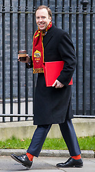 © Licensed to London News Pictures. 27/02/2018. London, UK. Secretary of State for Culture, Media and Sport Matt Hancock on Downing Street. Photo credit: Rob Pinney/LNP