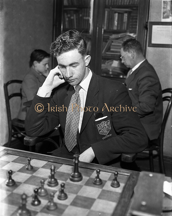 Chess, Irish Senior Schoolboys Chess Championships.23/04/1957