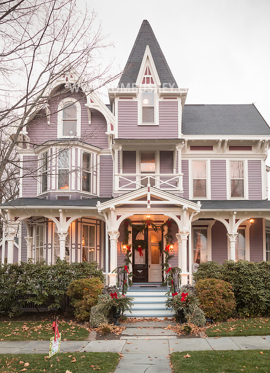 Goshen, New York - The house at 45 Murray Avenue was one of the homes featured on the Goshen Christmas House Tour on Dec. 3, 2016.  The event was a benefit for Catholic Charities Community Services and featured self-guided tours of eight private Goshen homes. The  house was built in 1881 in the Victorian Second Empire style and constructed of mahogany and walnut.