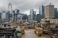 Worksite of the new location of the Hong Kong government.