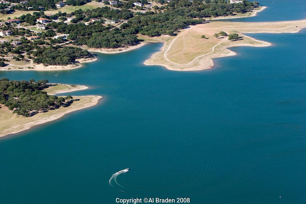 Lake Travis on the Colorado River is a favorite playground near Austin, Texas.
