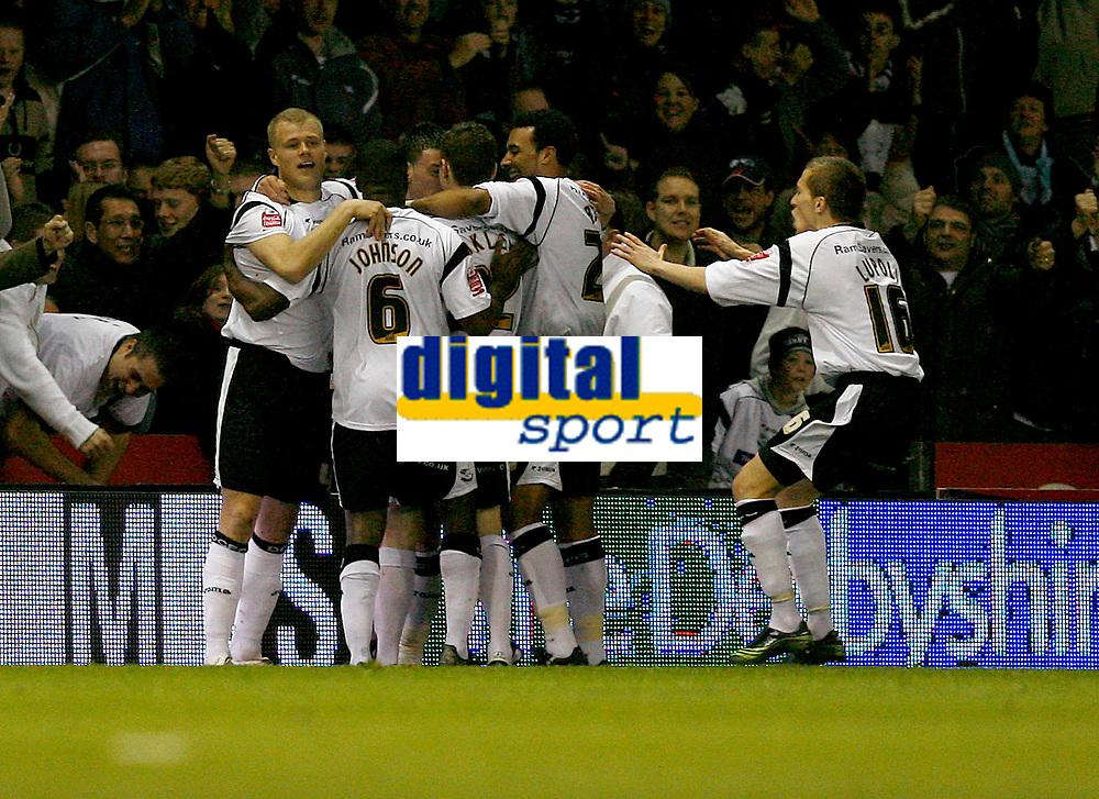 Derby celebrate David Jones goal after 2 minutes