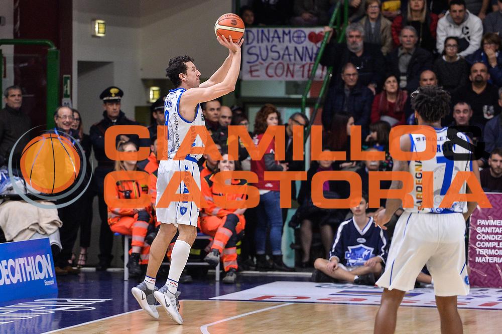 Giacomo Devecchi<br /> Banco di Sardegna Dinamo Sassari - The Flexx Pistoia Basket<br /> Legabasket Serie A LBA Poste Mobile 2016/2017<br /> Sassari 04/03/2017