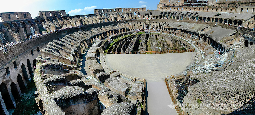 Italy, Rome. Colosseum, the largest amphitheatre ever built in the Roman Empire.
