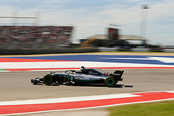 October 21, 2018 - Austin, TX, U.S. - AUSTIN, TX - OCTOBER 21: Mercedes driver Lewis Hamilton (44) of Great Britain races through turn 12 during the F1 United States Grand Prix on October 21, 2018, at Circuit of the Americas in Austin, TX. (Photo by John Crouch/Icon Sportswire) (Credit Image: © John Crouch/Icon SMI via ZUMA Press)