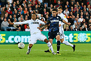 Goal - Pablo Hernandez (19) of Leeds United scores a goal to make the score 2-2 during the EFL Sky Bet Championship match between Swansea City and Leeds United at the Liberty Stadium, Swansea, Wales on 21 August 2018.