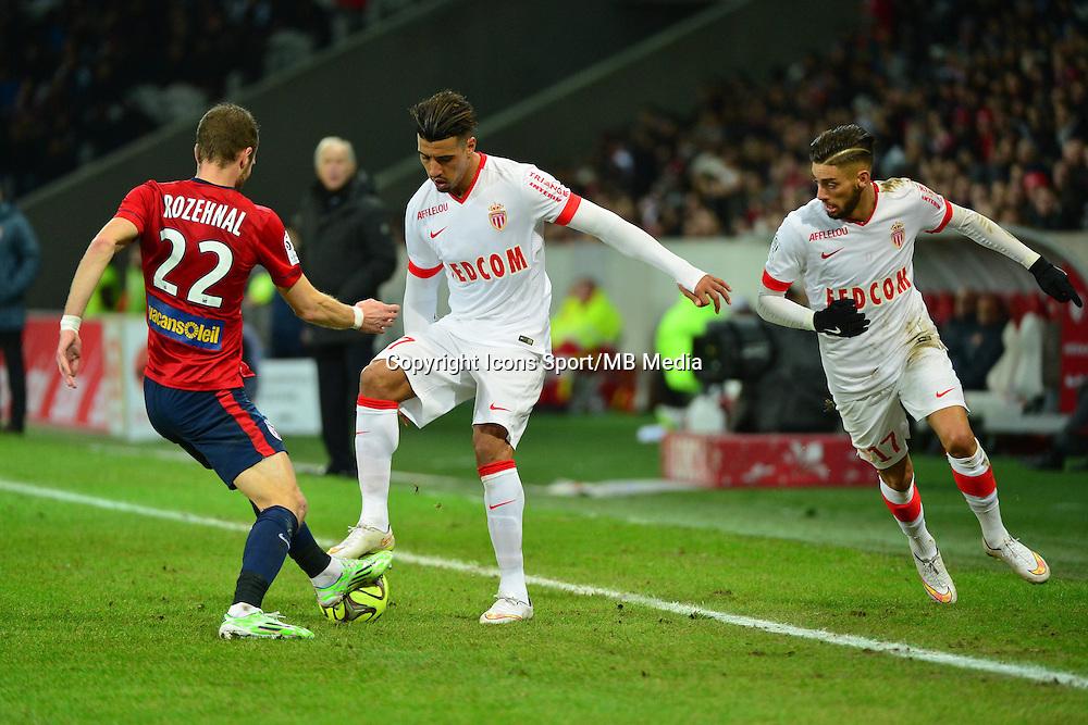 David ROZEHNAL / Nabil DIRAR / Yannick FERREIRA CARRASCO  - 24.01.2015 - Lille / Monaco - 22eme journee de Ligue1<br />Photo : Dave Winter / Icon Sport