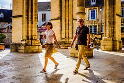 Tourists at Notre Dame church in Beaune, Burgundy, France<br /> <br /> (c) Andrew Wilson | Edinburgh Elite media